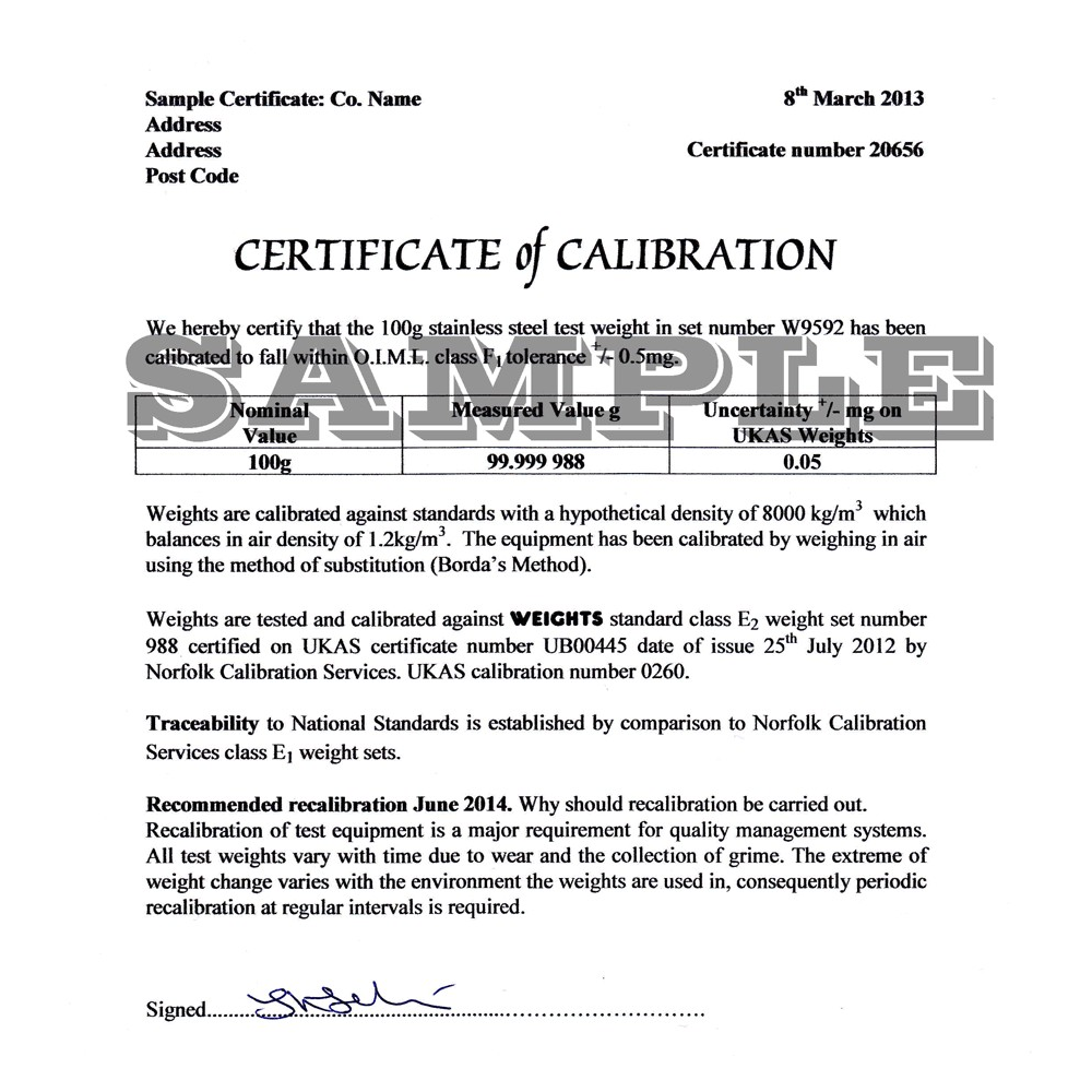 Calibration certificate to oiml class m1 up to 1kg manufacturers yelopaper Image collections